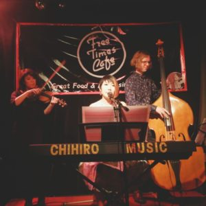 chihiro & the classy notes at free times cafe piano double bass violin cajon room